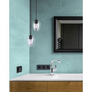 CAIN Pendant 1 Light GD + MBK
