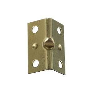 National Hardware V113 Series N226-258 Corner Brace, 0.04 in, Steel, Brass