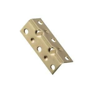 National Hardware V113 Series N226-266 Corner Brace, 0.04 in, Steel, Brass
