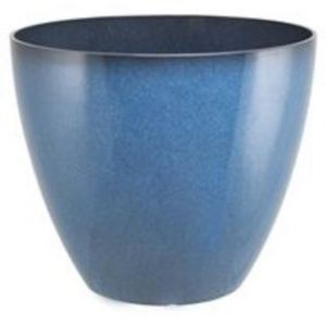 PLANTER RESIN BLUE 15IN