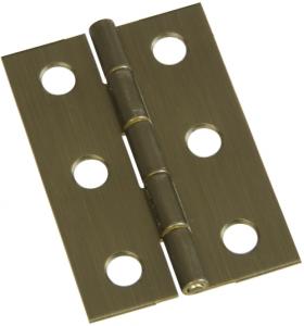 National Hardware N211-375 Decorative Broad Hinge, 5 lb Weight Capacity, Brass